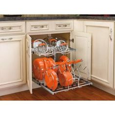 Rev-A-Shelf 18 in. H x 21 in. W x 22 in. D 2-Tier Pull-Out Base Cabinet Cookware Organizer-5CW2-2122-CR - The Home Depot