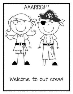 pirate worksheet for the first day of school