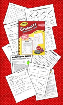Geometry: Exploring the Basics is a 44-page ebook by Laura Candler. The lessons and printables are designed to help students master the basic concepts of geometry and are aligned with Common Core Standards in Grades 2 - 4. You'll find lots of ready-to-use activities and games for introducing lines, line relationships, and simple polygons. $6.50