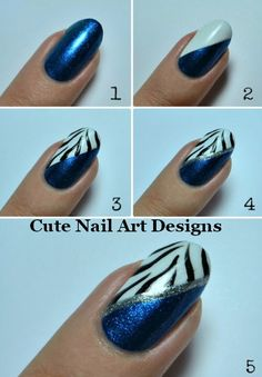 Cute nail art designs- would be cute with pink!