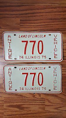 Rare Vintage 1974 1975 Illinois License Plate #770 Antique Vehicle Tag PAIR & Show off your Clemson Tigers loyalty by displaying a license plate ...