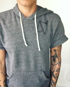 Androgynous Fox Clothing | Short Sleeve Hoodie