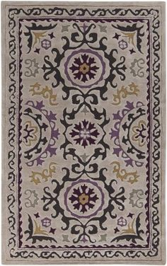 New suzani rug from Surya (MBA-9022)