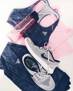 Workout style with adidas and nike