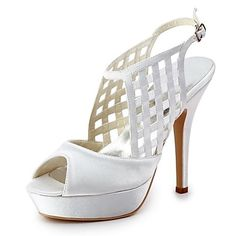 Women's Shoes Peep Toe Stiletto Heel Sandals with Buckle Wedding Shoes More Colors available - USD $ 59.99