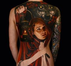39 3D full back tattoo