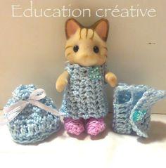 Suite des #DIY de petites tenues #originales pour les #SylvanianFamilies par #Educationcreative