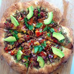 Healthier Mexican Pizza