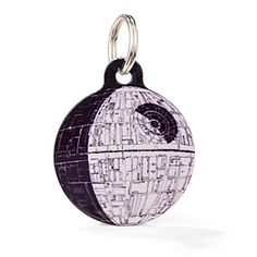 This is freaking awesome! It's a dogtag with the deathstar image on the front and when you turn it around there's a smartphone scanbar thing that goes to a site or something where you put in your information! I think it's really neat :)