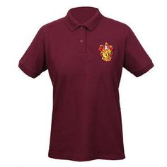 #Gryffindor Crest Women's Relaxed Fit Burgundy #Polo