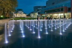 Koenig Heinrich Averdung Platz by Agence Ter Landscape Architecture - Duisburg… Modern Landscape Design, Modern Landscaping, Contemporary Landscape, Urban Landscape, Landscape Architecture, Landscaping Ideas, Architecture Jobs, Fountain Lights, Fountain Design
