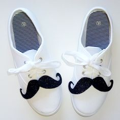 Want to add a little bit of character to your shoes? How about shoestaches? Mustaches for your shoes!