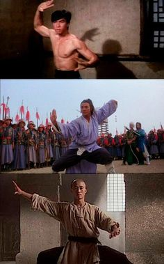 Donnie Yen, Jet Li, Wu Jing doing Tai Chi