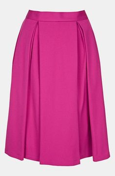 Topshop Double Pleat Skirt available at #Nordstrom
