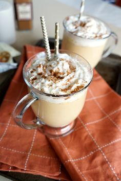 This Pumpkin White Hot Chocolate takes just 5 minutes to make, and tastes like liquid pie! Super easy and the perfect fall treat!