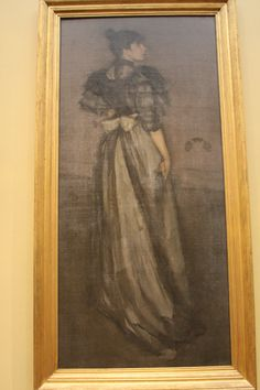 Mother of Pearl and Silver: The Andalusian by James McNeill Whistler.  National Art Gallery, West.  07/2011.