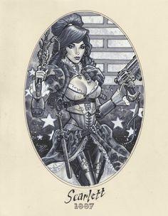 Scarlett - 1887 by Michael Dooney Comic Art