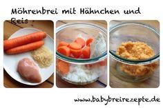 Möhrenbrei mit Hähnchen und Reis Rezept zum Selberkochen - Babybreirezepte zum Nachkochen.