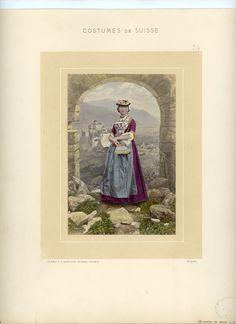 Braun, Suisse, Costumes de Suisse, Canton de Valais    #Europe #Suisse_Schweiz