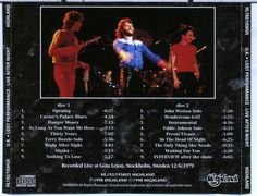 UK final tour in Nov 1979