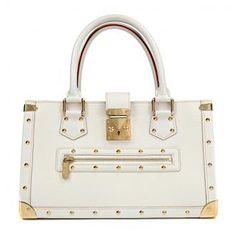 Authentic Louis Vuitton White Suhali Le Fabuleux Satchel