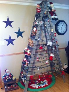 My Old ladder christmas tree.