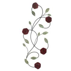 Fetco Home Decor Pomeroy Roses Wall Art by Fetco Home Décor. $25.82. Tuscan bronze. Wall art piece. Measures 13.8x32.6. Metal bronze. The pomeroy roses wall art piece in tuscan bronze with magenta velvet and washed verdigris has the perfect floral scroll look, finished with roses for wall display.. Save 14%!