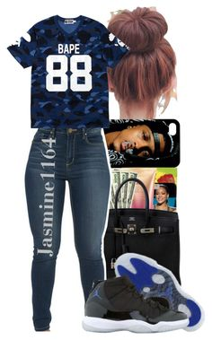 """BAPE 88"" by jasmine1164 ❤ liked on Polyvore featuring A BATHING APE and Retrò"