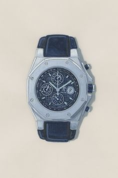 Even as a sketch, the first Royal Oak Offshore was clearly going to be a beast. Rolex, Royal Oak Offshore, Audemars Piguet Royal Oak, Casio Watch, Bracelets, Sporty, Watches, Beast, Leather