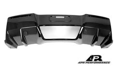 C7 Corvette Replacement APR Carbon Fiber Lower Rear Diffuser APR Performance Carbon Fiber lower Rear Diffuser is a direct replacement to the factory rear diffuser in design.  Proudly made in the USA, this rear diffuser will fit the C7 Corvette Base, Z06 and Grand Sport model Corvettes  Rear diffusers help reduce turbulence of the under-body airflow that exits the rear of the vehicle.