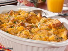 Cheesy Egg Casserole - This diabetic-friendly casserole recipe is just what you need to try on Christmas morning!