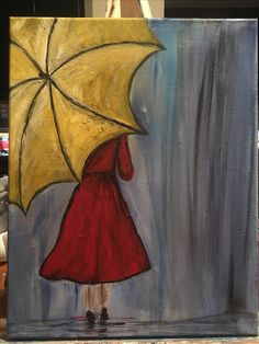 An upcoming painting for a 2017 Canvas & Cocktails class at Tumbleweeds at the Mountain Post : Fort Carson, Colorado Sillouette Painting, Umbrella Painting, Umbrella Art, Oil Pastel Drawings, Oil Pastel Art, Art Drawings, Canvas Painting Tutorials, Easy Canvas Painting, Canvas Art