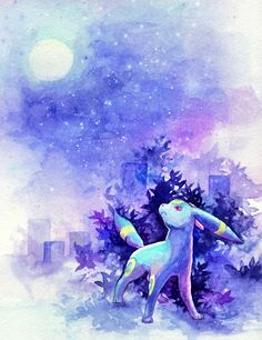Umbreon at Night. Umbreon And Espeon, Eevee Evolutions, Gif Pokemon, Pokemon Fan, Lugia, Pokemon Mignon, Pokemon Painting, Cute Pokemon Pictures, Anime