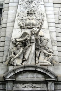 NYC - Chinatown: Manhattan Bridge Arch - Spirit of Commerce | Flickr - Photo Sharing!