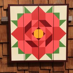 Rose Barn Quilt Barn Quilts by Chela
