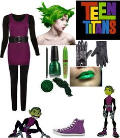 """Teen Titans: Beast Boy"" by crystalline-switchblade ❤ liked on Polyvore"