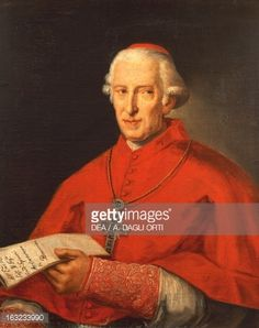 Fine art : Portrait of Pope Clement XIV in Cardinals robes, born Gian Vincenzo Antonio Ganganelli (Santarcangelo di Romagna, 1705-Rome, 1774), painting by Giuseppe Cades (1750-1799).