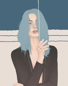 Female Portraits by Yuschav Arly – Inspiration Grid   Design Inspiration #illustration #drawing #portrait #girl #female #illustrationinspiration #inspirationgrid
