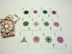 Handmade Spirograph Playing Cards Design