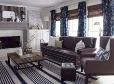 Dream on... taupe and navy living room