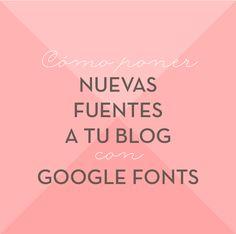 Cómo poner nuevas fuentes a tu blog con Google Fonts Lee cómo ponerlas paso a paso en http://meisi.es/css-super-util-google-fonts/ #blogdesign #googlefonts #tutorial