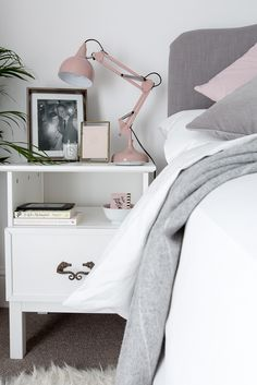 Grey And White Bedroom grey, white & blush bedroom | bedrooms, gray and bedroom images