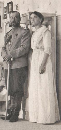 Nicholas and daughter Grand Duchess Olga