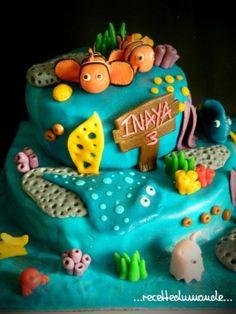Gâteau Nemo en pâte d'amande - Nemo's cake