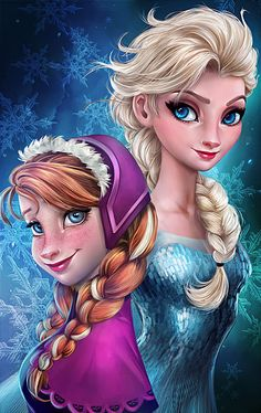 let it go frozen sisters wallpaper Frozen Elsa & Anna Digital Fan Art Wallpapers Elsa Frozen, Frozen Disney, Disney Pixar, Film Disney, Frozen Movie, Disney Kunst, Disney Fan Art, Disney Animation, Disney And Dreamworks