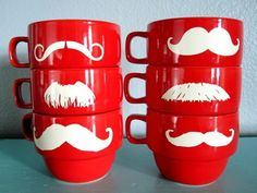 Stache cups! :{