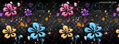 Flowers And Hearts Facebook Covers, Flowers And Hearts FB Covers, Flowers And Hearts Facebook Timeline Covers, Flowers And Hearts Facebook Cover Images