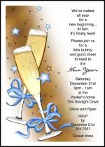 New Years Party Invitation Cards with Bows and Glasses Designs at Holiday-Invitations, Card Number and discounted to as low as with quantity purchases Holiday Party Themes, Holiday Parties, Ideas Party, Invitation Wording, Invitation Cards, Invites, Business Invitation, Christmas Party Invitations, Holiday Greeting Cards