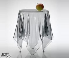 Transparent table. SO cool!