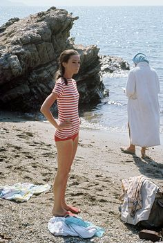 Audrey Hepburn photographed by Pierluigi Praturlon on the set of Two for the…